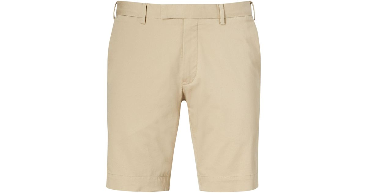 brand new fc7c9 95bd1 Polo Ralph Lauren Natural Slim-fit Twill-shorts Mit Stretch for men