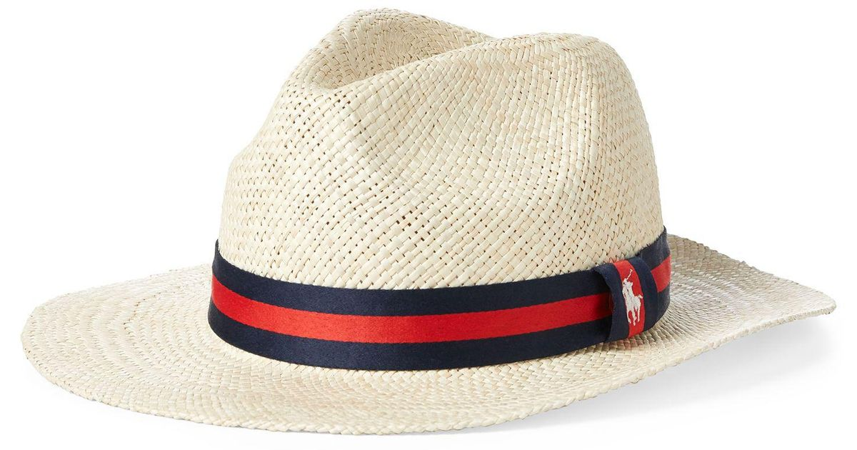 Ralph Lauren Synthetic Straw Panama Hat in Cream/Black (Natural) for Men - Lyst