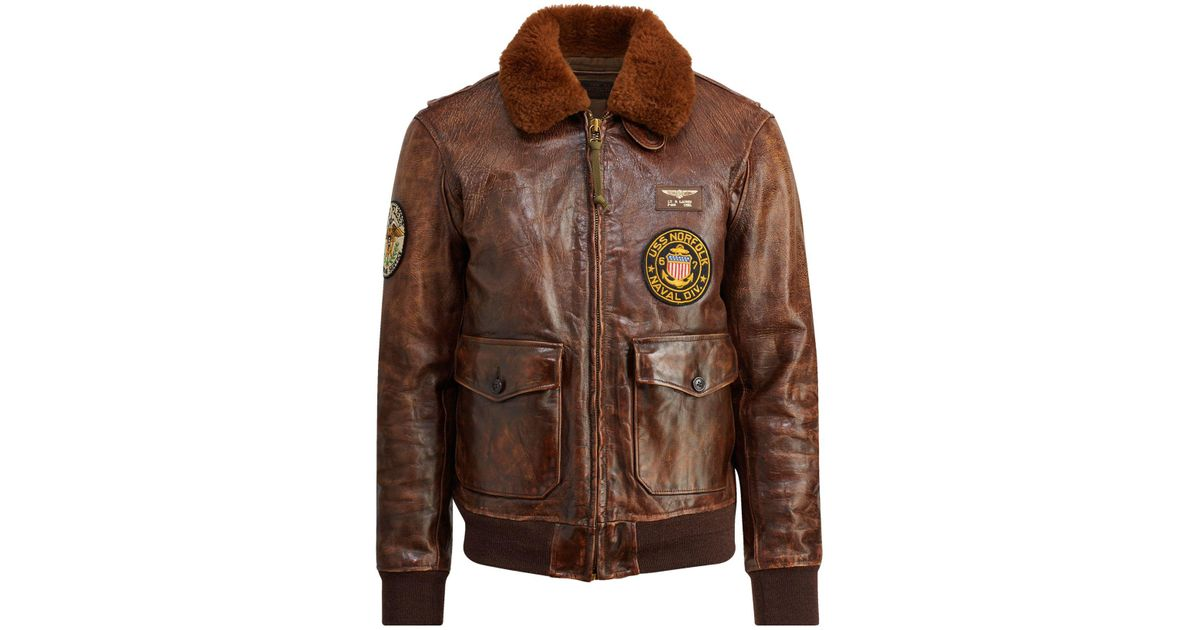 For Brown Bomber 1 Men Lauren G The Jacket Polo Iconic Ralph j5qc34ARL