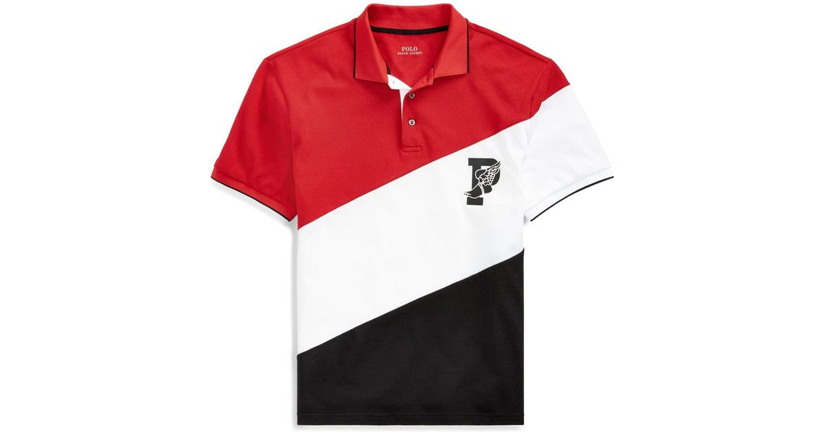 Stretch In Polo For Lauren Ralph Lyst Shirt Wing Men P Red Mesh OZkuPXi