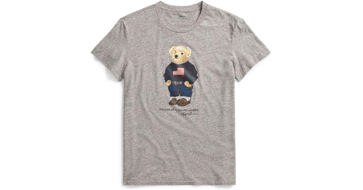 WENL American Flag Bandana Bear Mens Summer Fashion Polo Shirt