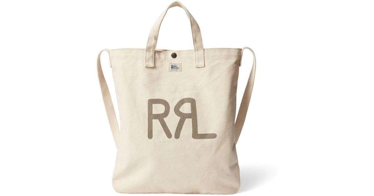 rrl seeded canvas market tote in natural lyst