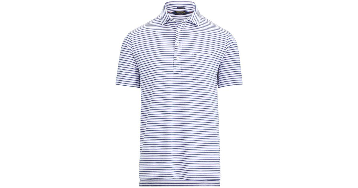 982639f7d8 Ralph Lauren - Blue Active Fit Stretch Lisle Polo for Men - Lyst