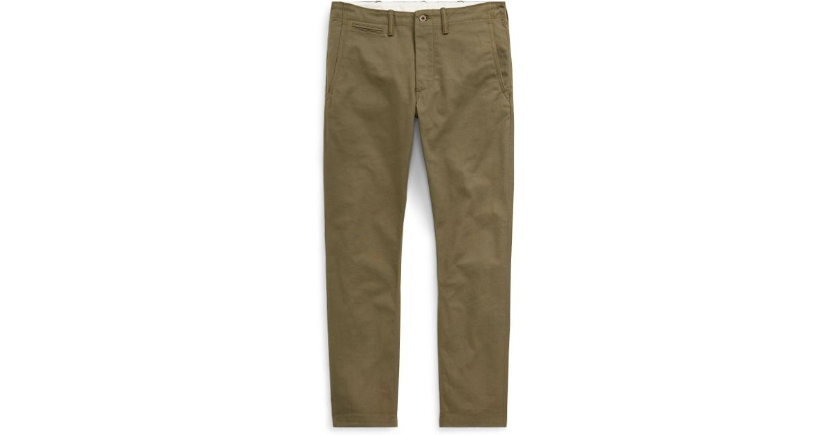 3bcd6ae6cf Polo Ralph Lauren Green Tapered Fit Selvedge Chino for men