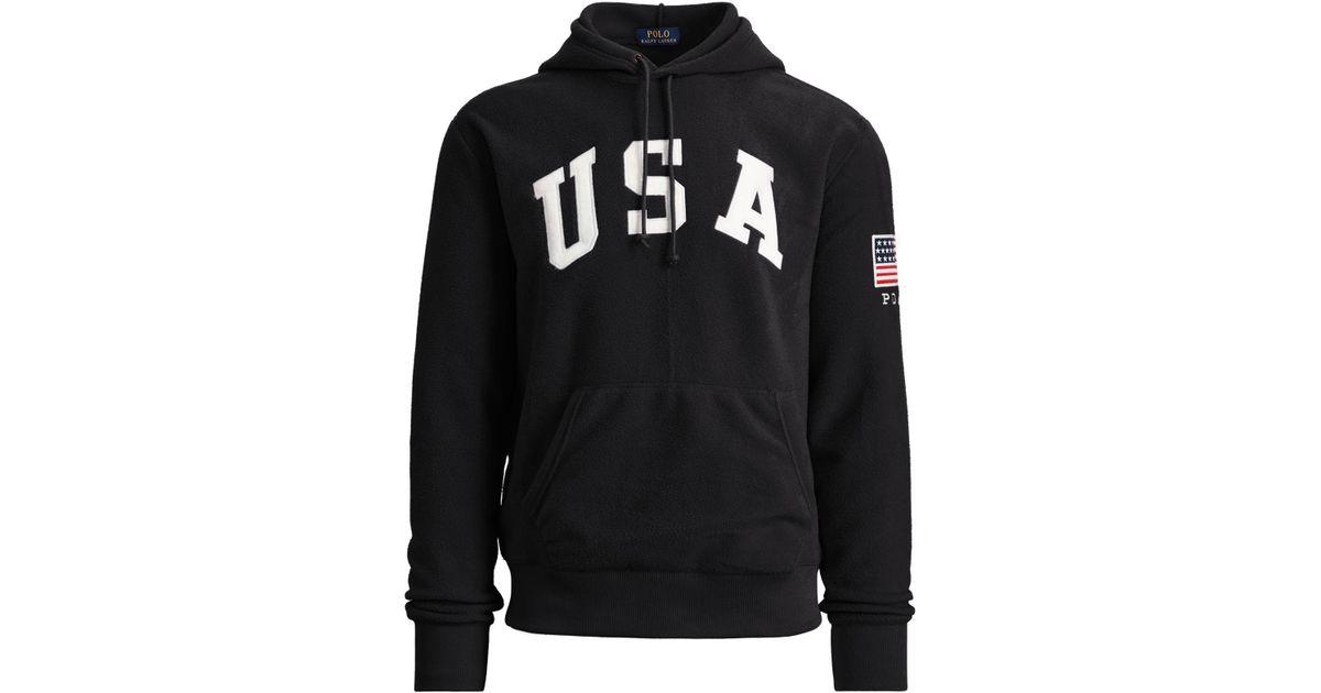 Ralph Lauren Men Americana Hoodie Black Fleece For Polo 3AL4R5qj