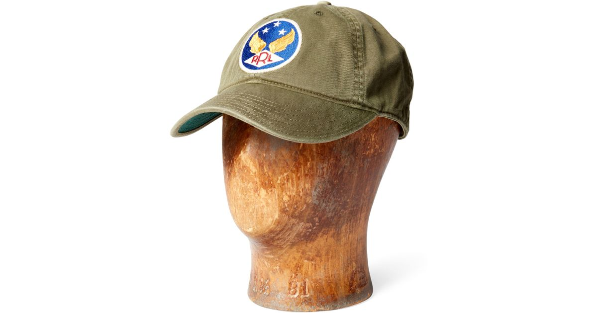 72aaec3a0c268 RRL Garment-dyed Twill Ball Cap in Green for Men - Lyst