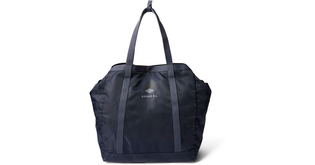 903141ce9e71 RRL Packable Nylon Tote in Blue for Men - Lyst
