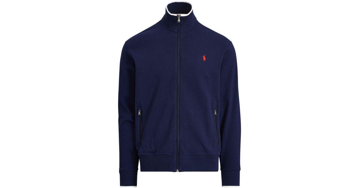 c2d58fc18 Lyst - Polo Ralph Lauren Cotton Interlock Track Jacket in Blue for Men