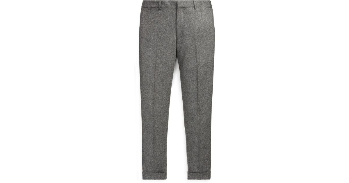 1dc9ee056a Polo Ralph Lauren - Gray Polo Wool Flannel Trouser for Men - Lyst