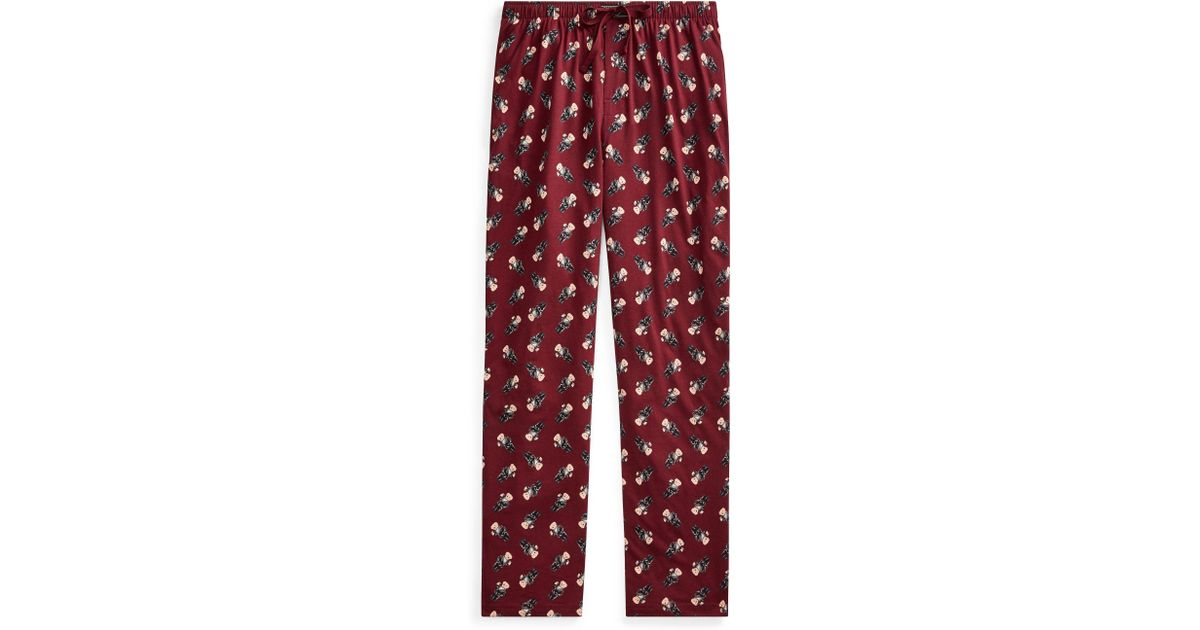 3f6c715d Polo Ralph Lauren Red Polo Bear Slim Pajama Pant for men