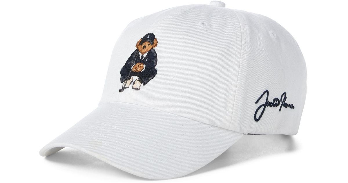 cc008f76cdc90 Ralph Lauren Justin Thomas Polo Bear Cap in White for Men - Lyst