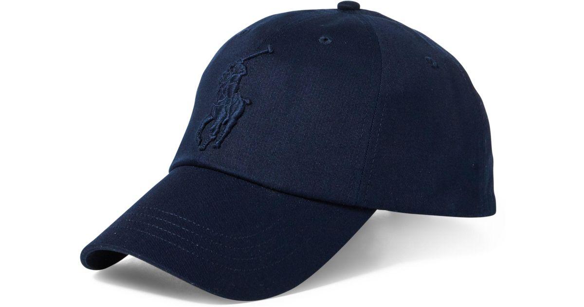 Lyst - Polo Ralph Lauren Mens Cotton Chino Baseball Cap in Blue for Men b2b06b59920