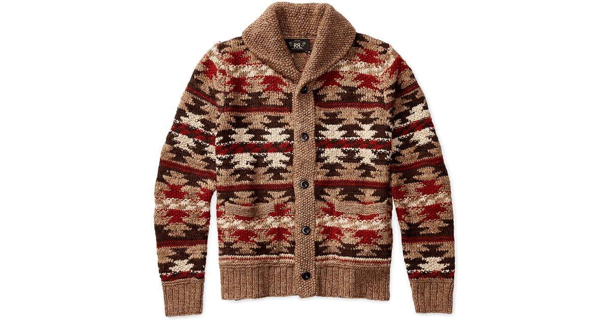 Lyst - Rrl Hand-knit Shawl Cardigan for Men