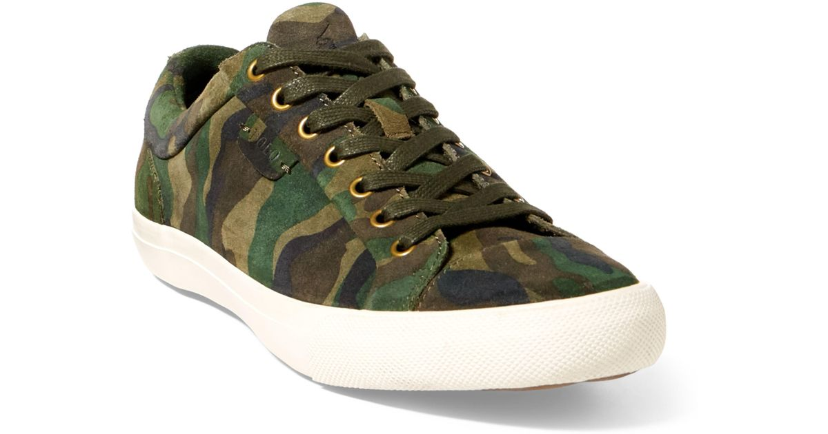 water insect Injection  Polo Ralph Lauren Geffrey Camo Suede Sneaker in Olive Camo (Green) for Men  - Lyst