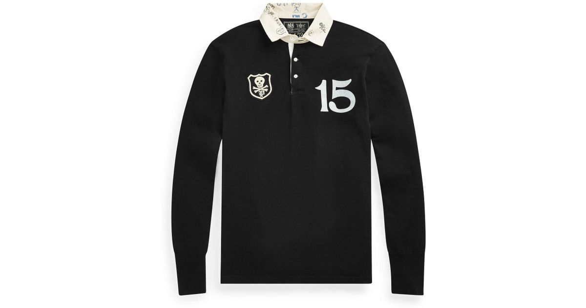 50e5fa06 Polo Ralph Lauren Classic Fit Cotton Rugby Shirt in Black for Men - Lyst