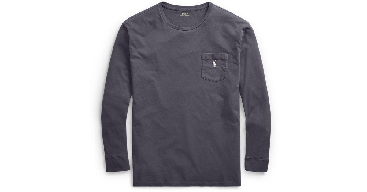 021e7d331805 Lyst - Polo Ralph Lauren Custom Slim Fit Cotton T-shirt in Gray for Men