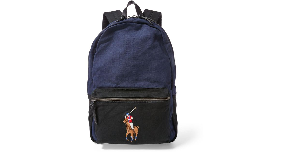 51b129fbf Polo Ralph Lauren Canvas Big Pony Backpack for Men - Lyst