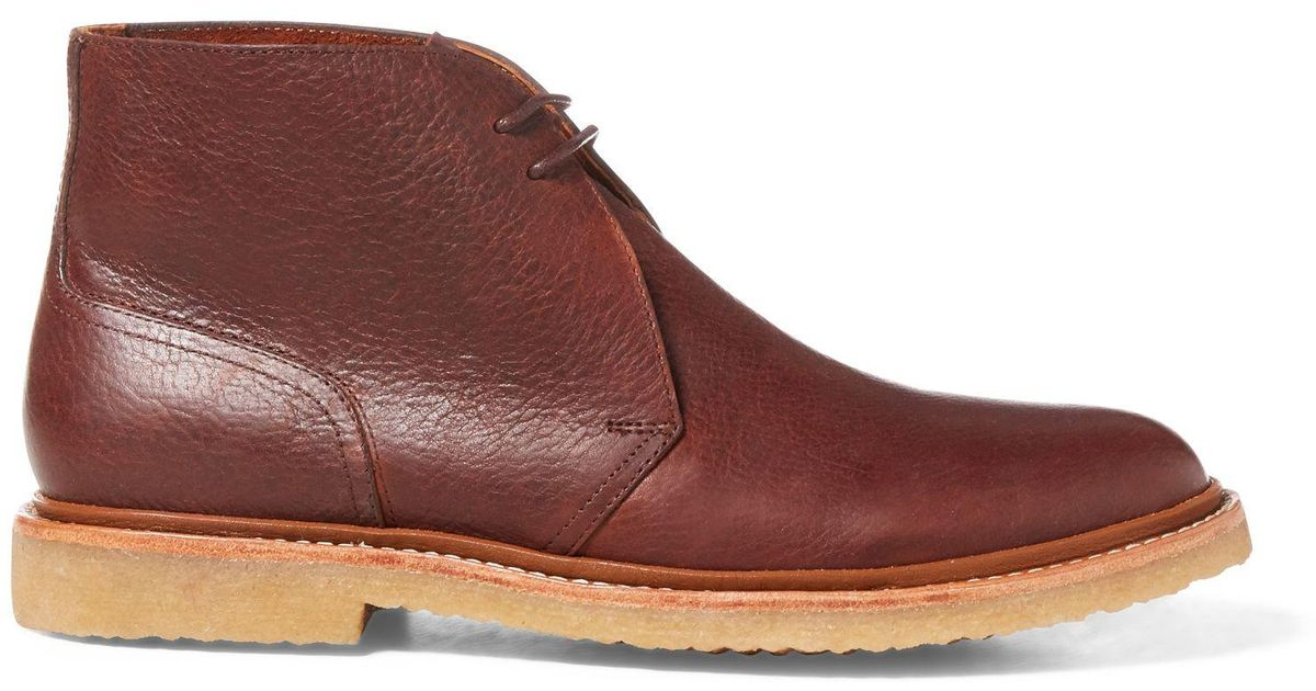 Lauren Chukka Boot Leather Men Polo Ralph Brown Karlyle For y8vmNn0wO