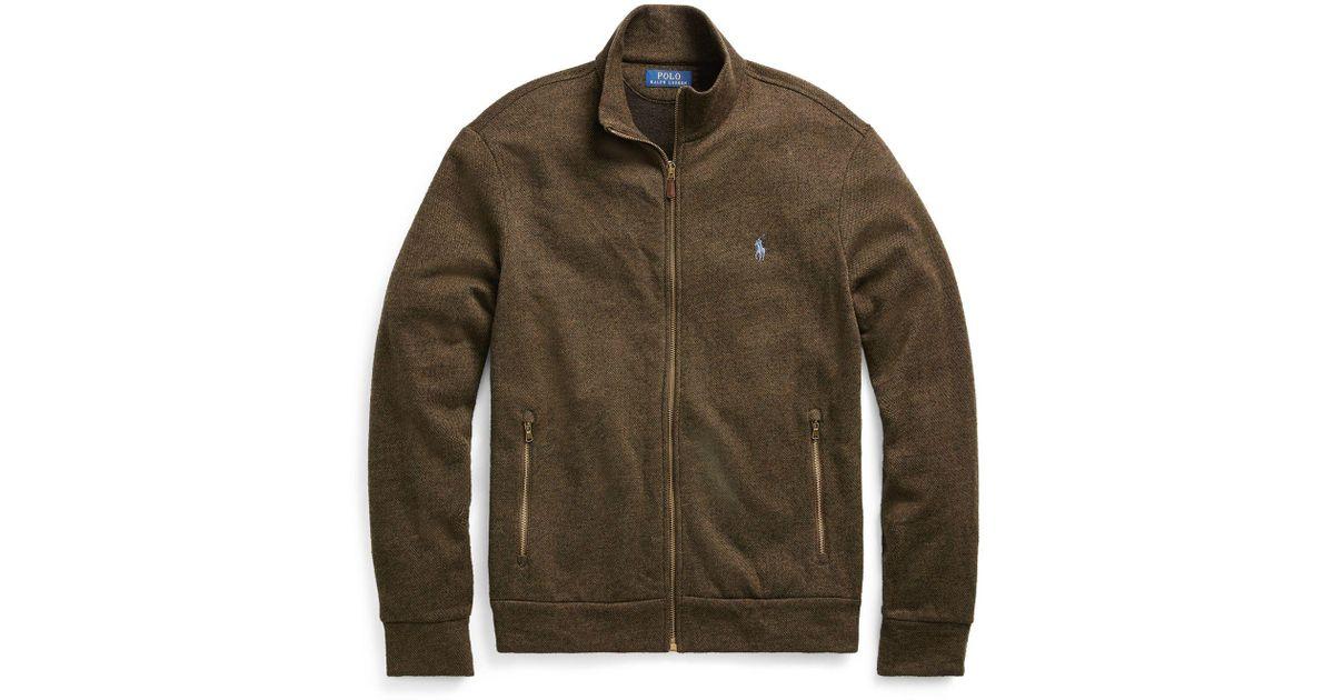 Lauren Green Jacket Fleece Blend Men Ralph Cotton For Polo drxhQCts