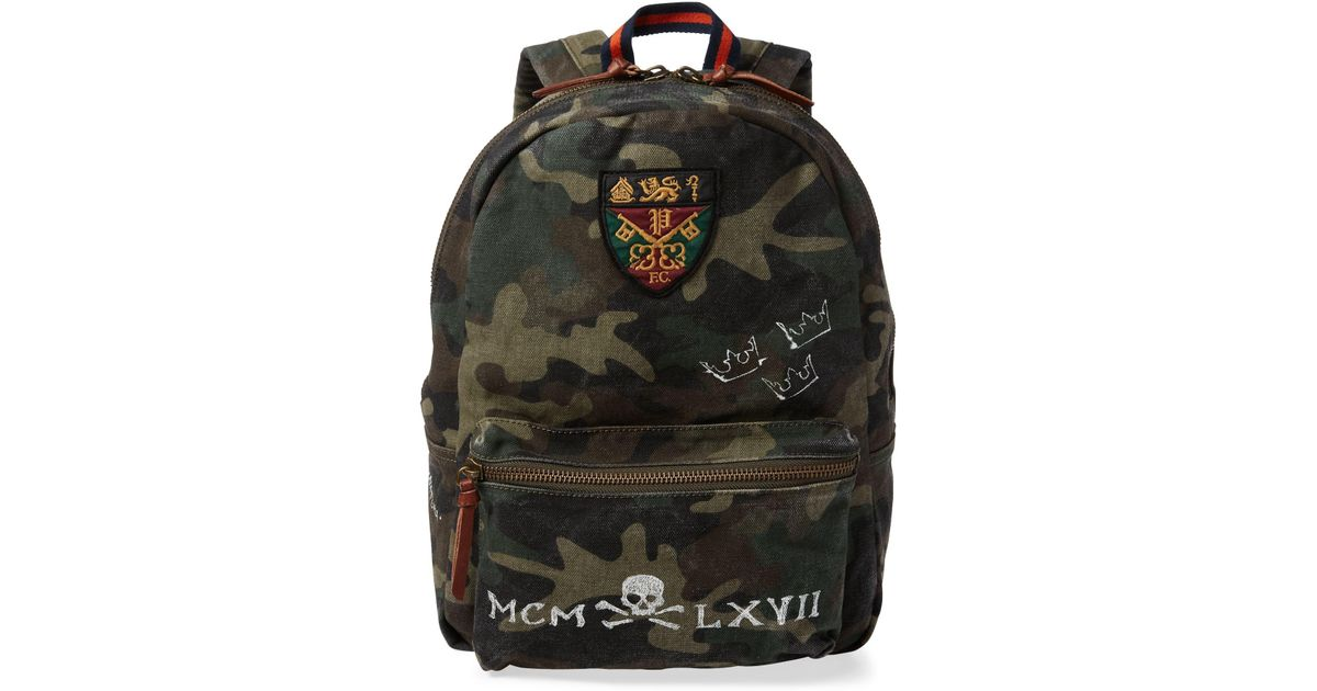 Lyst - Polo Ralph Lauren Camo Cotton Backpack for Men 41cfa47f80d42