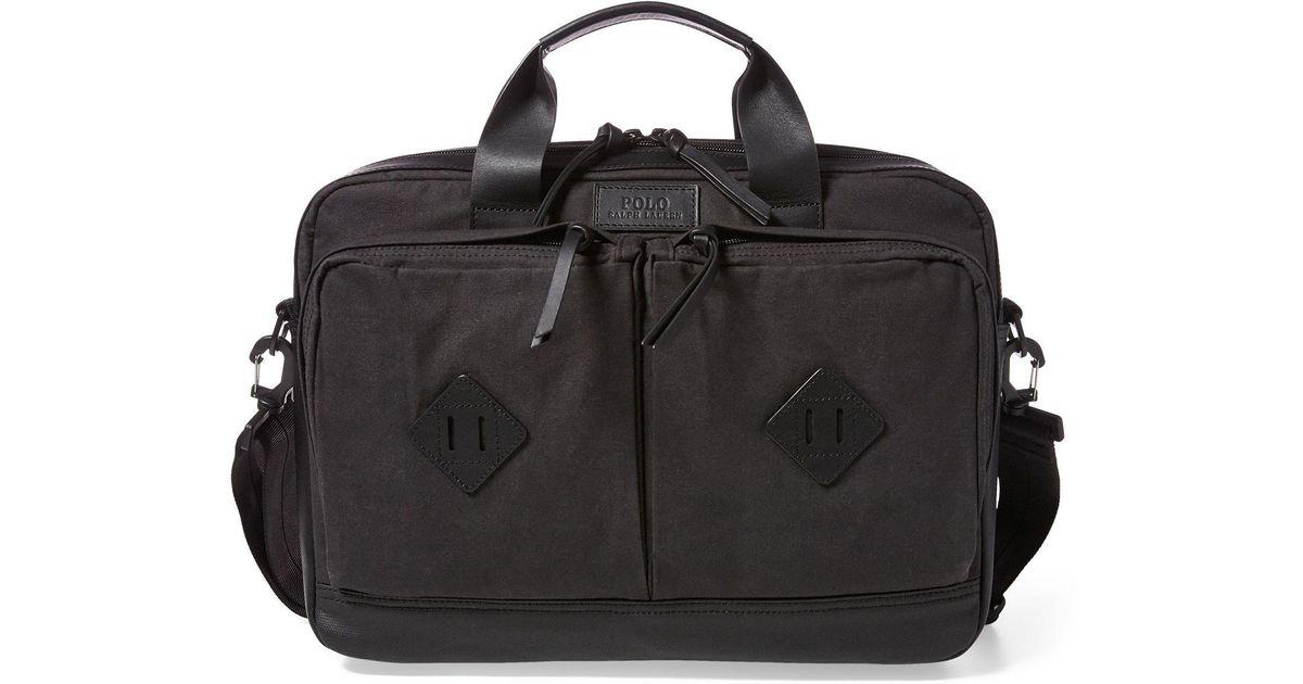 80670d2a1c76 Lyst - Polo Ralph Lauren Cotton Canvas Commuter Bag in Black for Men