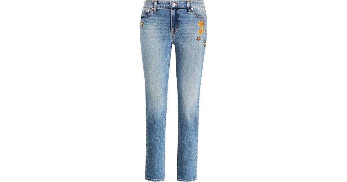 5f8b5d33e7 Ralph Lauren Blue Estate Crop Jean