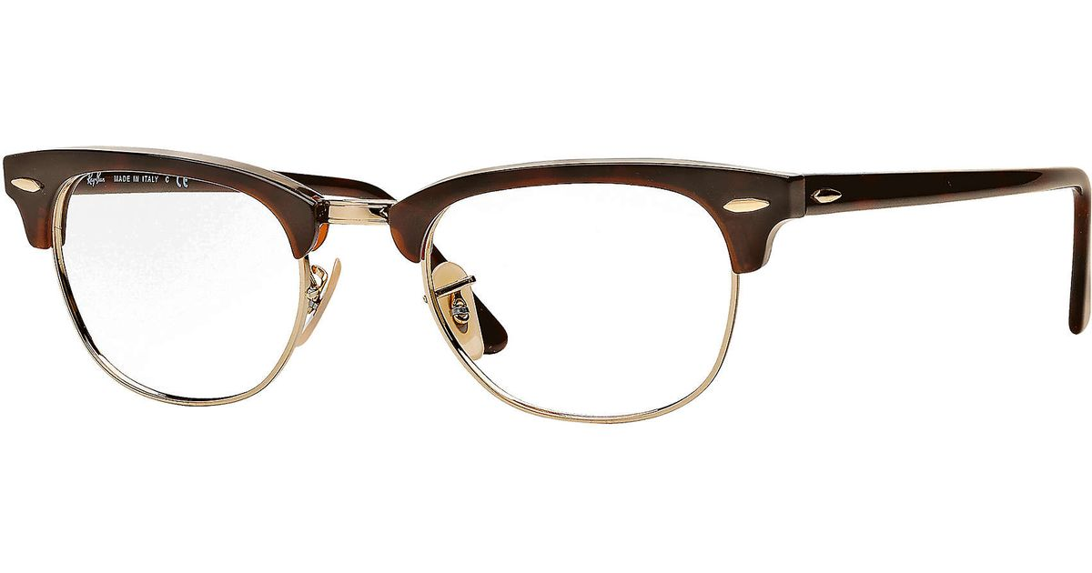 576265ad17 Ray-Ban Clubmaster Optics in Brown for Men - Lyst