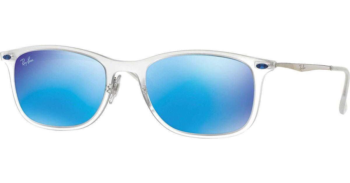 ae6a5907c75e7 ... czech ray ban new wayfarer light ray in blue for men lyst 26af4 6d0cd