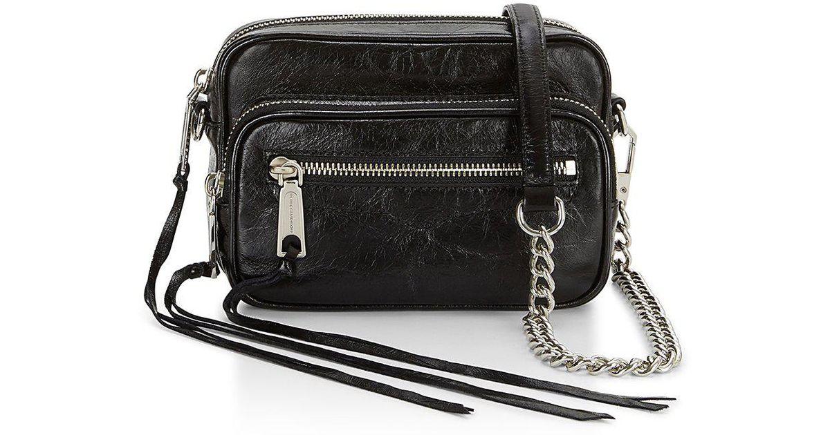 Leather Solstice Camera Bag In Black