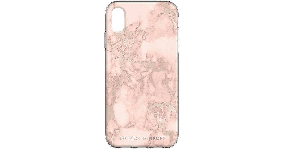 sports shoes cac18 4558d Rebecca Minkoff Multicolor Blush Marble Case For Iphone Xr