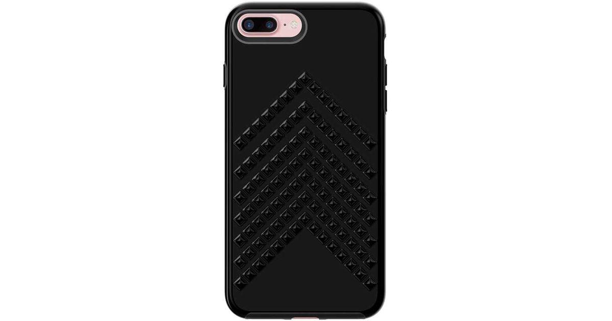 the latest 49e62 ec2e8 Rebecca Minkoff Black Chevron Stud Case For Iphone 8 Plus & Iphone 7 Plus