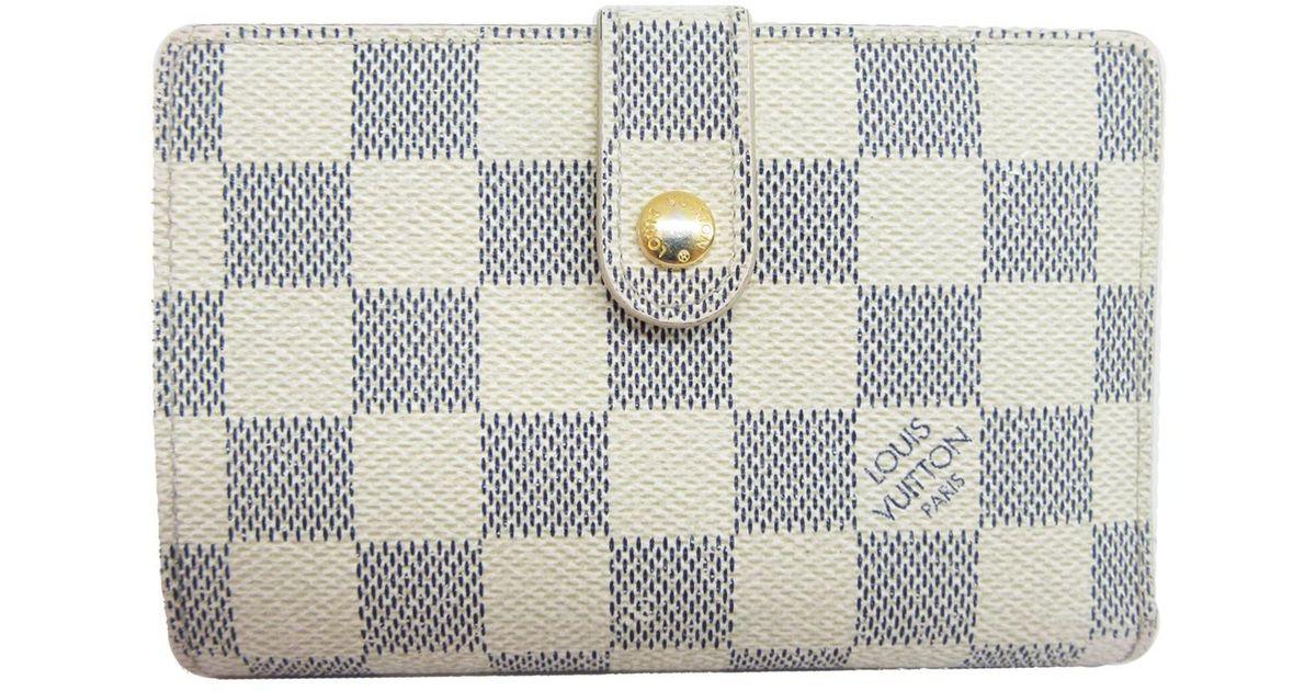 quality design a8178 2d890 Louis Vuitton - White Auth Damier Azur Portefeuille Viennois Bifold Wallet  Purse N61676 for Men - Lyst