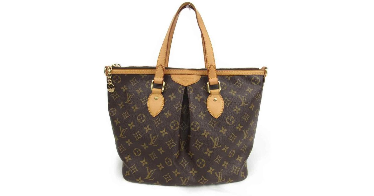 Lyst - Louis Vuitton Authentic Palermo Pm Shoulder Tote Bag M40145 Monogram  Used in Brown for Men 545689351d74b