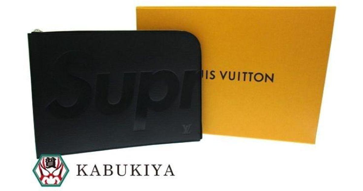 e4c5bcc10d1d Lyst - Louis Vuitton Authentic X Supreme Noir Epi Pochette Jour Gm Clutch  Bag M67722 17031757ck in Black