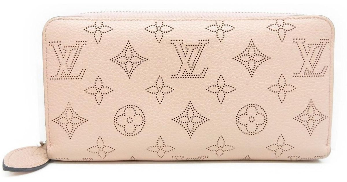 reputable site f65dd f1aaa Louis Vuitton Mahina Zipper Long Wallet Purse Pink M61868 3180