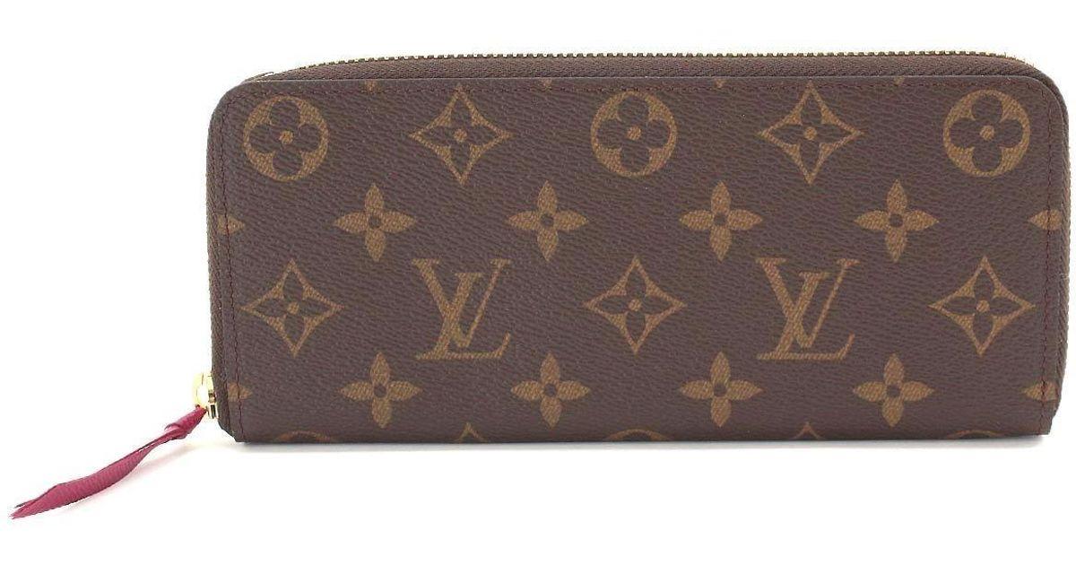 size 40 accc4 68a09 Louis Vuitton - Brown Monogram Portefeuille Clemence Long Wallet M60742  90045086.. - Lyst