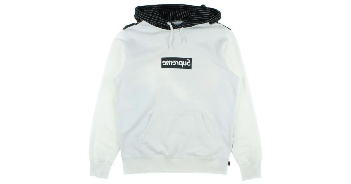newest collection 15c78 f0a90 Supreme Hoodie White S in White for Men - Lyst