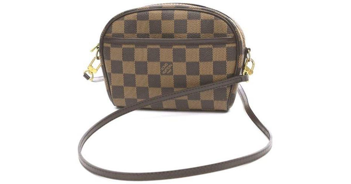 2a98a521c7ab Lyst - Louis Vuitton Damier Pochette Ipanema Shoulder Bag N 51296 in Brown