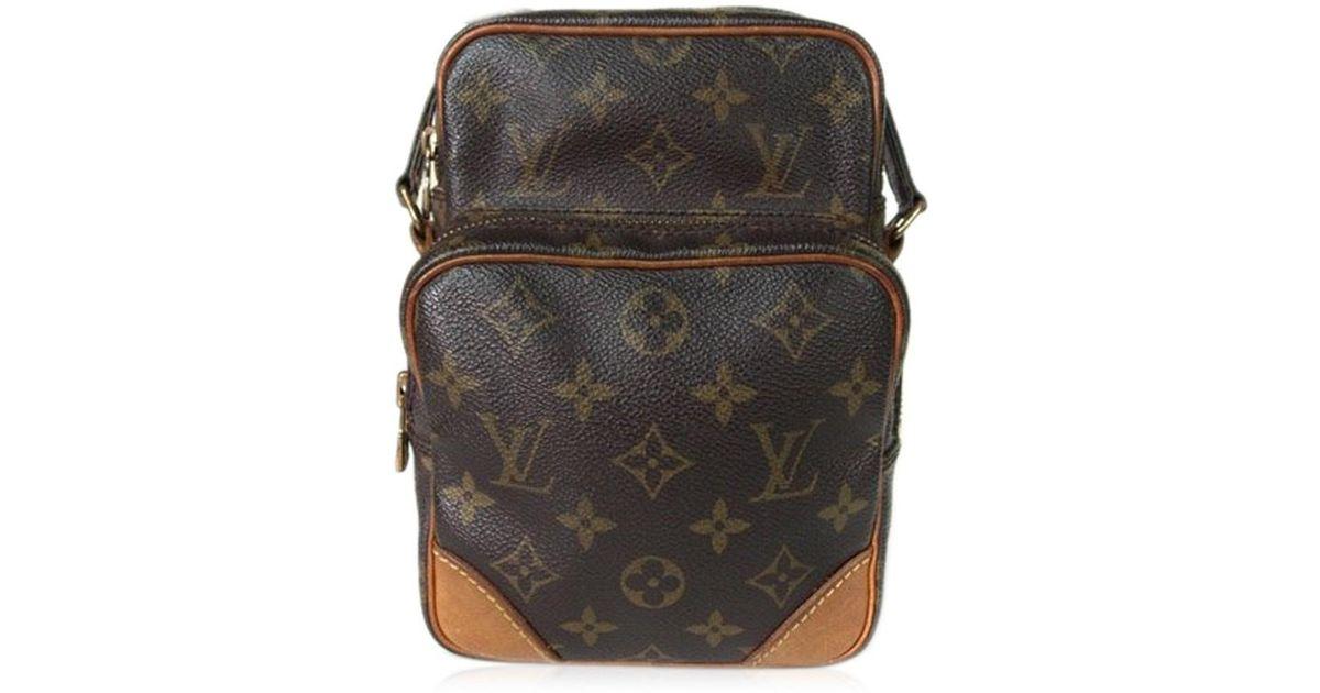 b8a360d6c6ae Lyst - Louis Vuitton Mini Amazon Monogram Leather Shoulder Bag in Brown