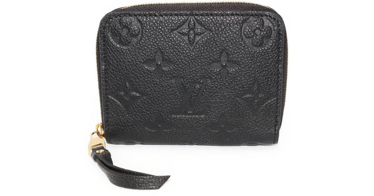43b3b0fb6ae1 Lyst - Louis Vuitton Coin Purse Monogram Empreinte Zippy Wallet M60574 in  Black