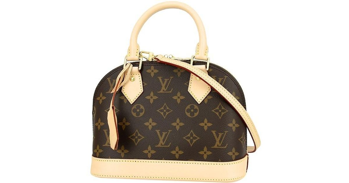 Louis Vuitton Canvas Alma Bb Monogram Handbag Mini Shoulder Bag Brown New Lyst
