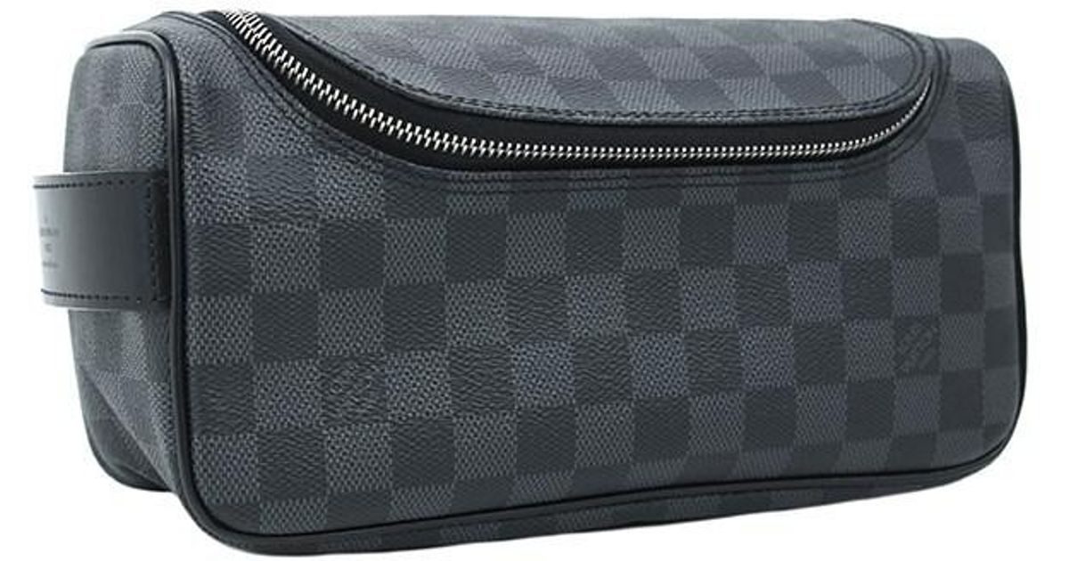 d747638cca4f Lyst - Louis Vuitton Toiletry Pouch Damier Graphite Black Grey Second Bag  Hand Bag  new  in Black