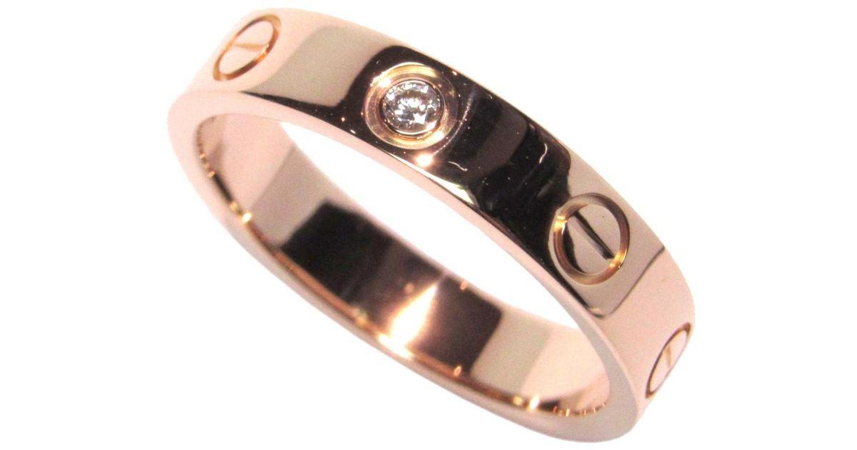 e600d965064af Cartier Mini Love Ring K18pg (750) Pink Gold