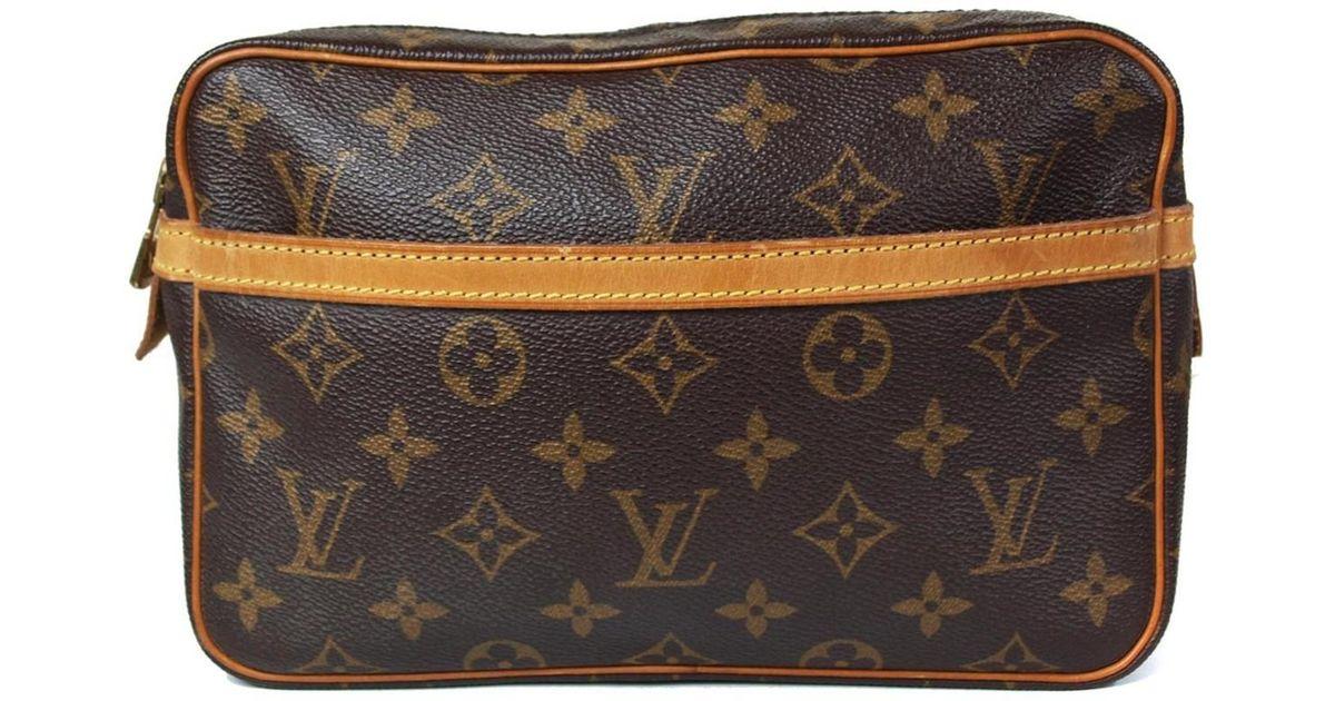 68573521e55 Louis Vuitton - Brown Compiegne 23 Monogram Canvas Pouch Clutch Bag - Lyst