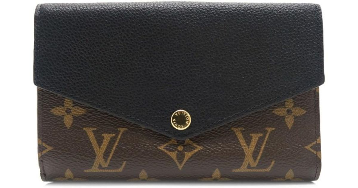 designer fashion dd84b 2e97d Louis Vuitton Monogram Pallas Compact Wallet Purse Brown M60990 7596