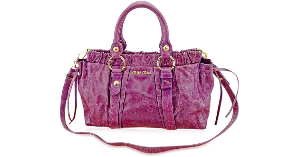 ea9ebdb2b8e1 Lyst - Miu Miu Miumiu 2wayshoulder Bag Used T1456 in Purple