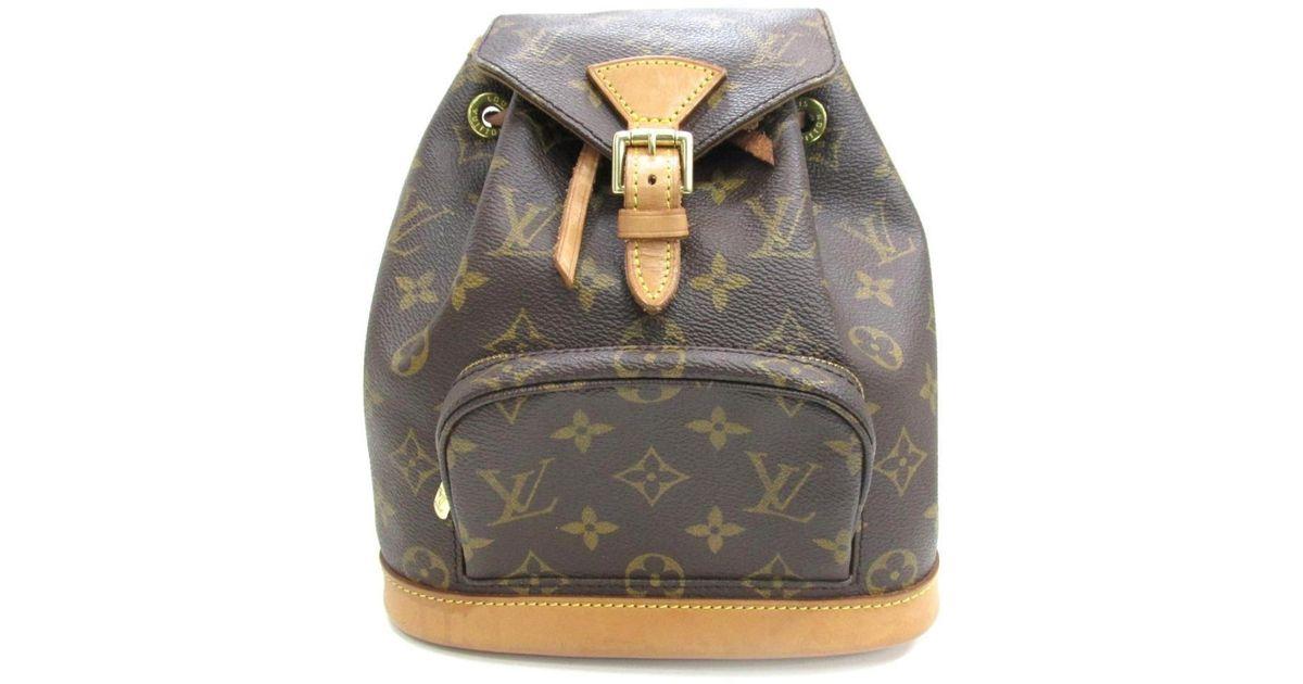 9e95ce38ffc4 Lyst - Louis Vuitton Mini Montsouris Backpack Monogram Canvas M51137 in  Brown