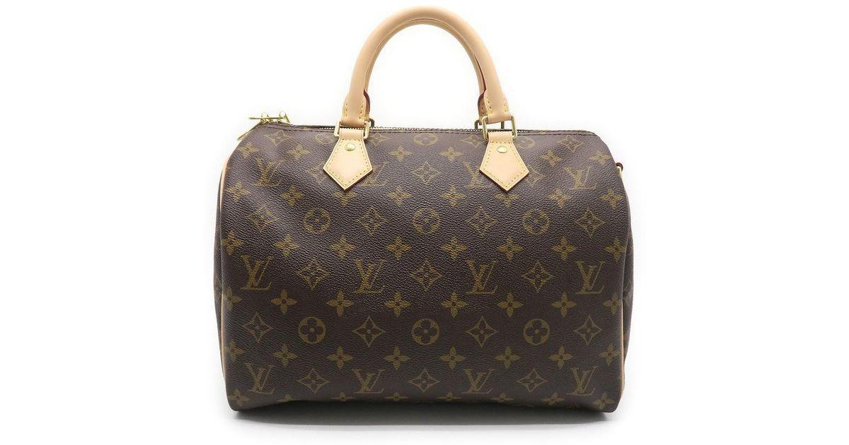 5f2f1640105f Lyst - Louis Vuitton Monogram Speedy 30 Bandouliere Satchel Bag Brown M41112  in Brown