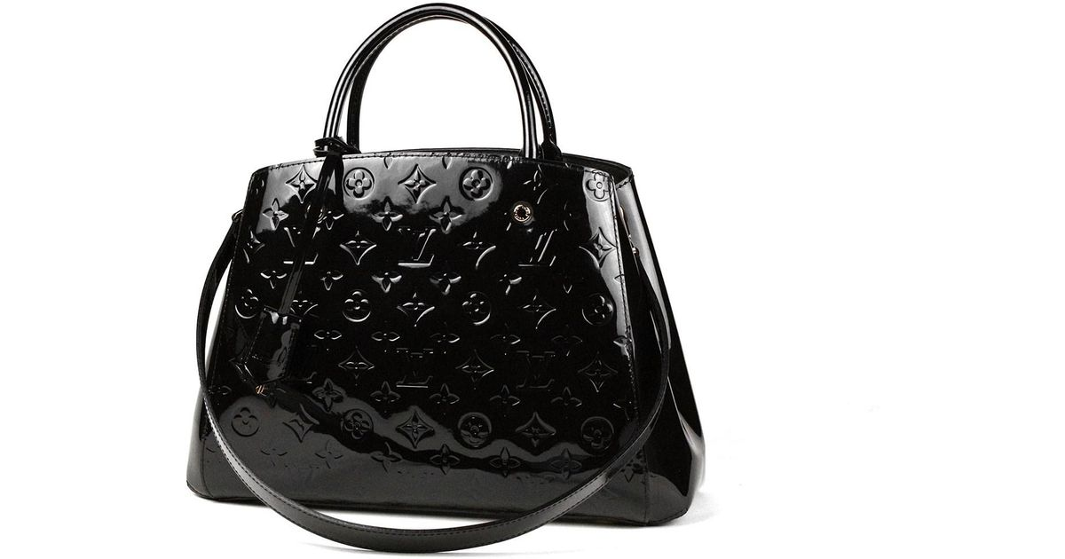 920b3bc032c5 Lyst - Louis Vuitton  montaigne Mm monogram Vernis noir m51192 in Black