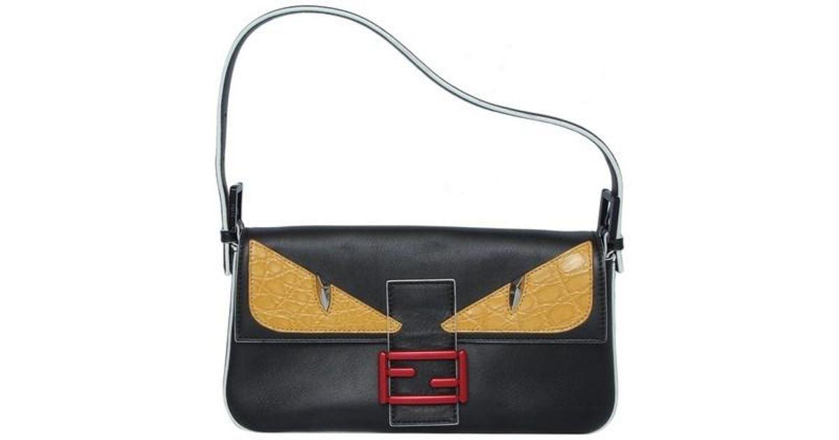 622feb3c65b6 Lyst - Fendi Baguette Bag Bugs Eyes Shoulder Bag Black in Black